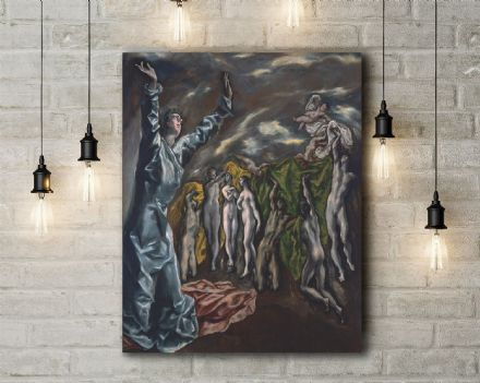 El Greco: Opening of the Fifth Seal. Fine Art Canvas.